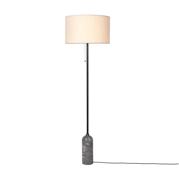 gubi gravity stehlampe grauer marmor und leinwand schirm gro frei haus. Black Bedroom Furniture Sets. Home Design Ideas