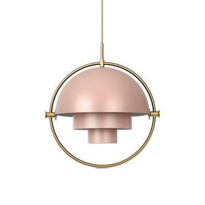 GUBI Multi-Lite Pendelleuchte Rose & Messing