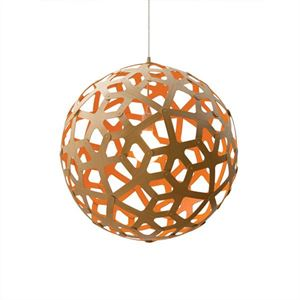 David Trubridge Coral Orange Pendel